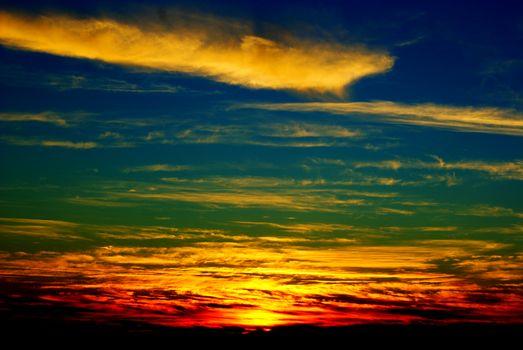 Фото бесплатно закат, красивое небо, облака