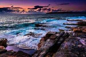 Заставки волны, скалы, берег