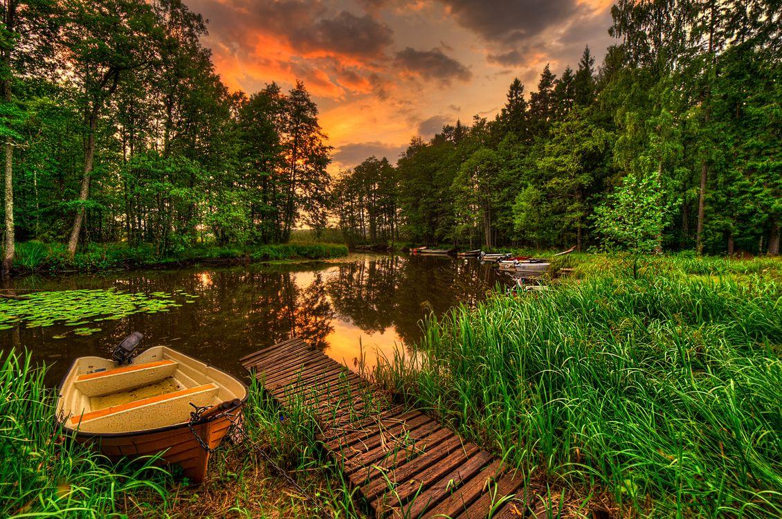 Лодка и река · бесплатное фото