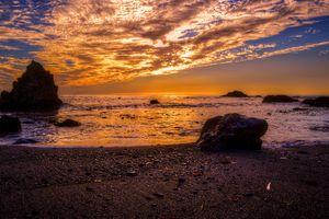 Фото бесплатно побережье, штат Калифорния, сумерки