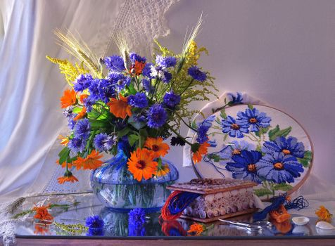 Фото бесплатно дикие цветы, картины, вазы