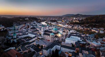 Фото бесплатно закат, город, Австрия