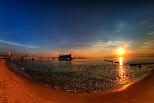 Фото бесплатно пирс, пейзаж, пляж