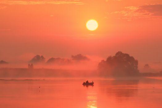 Рыбалка на рассвете · бесплатное фото