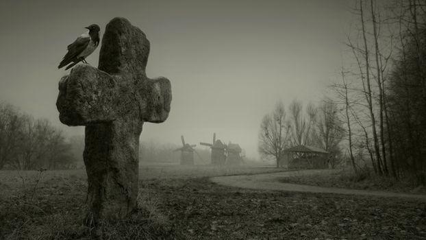 Заставки кладбище, дак, могила