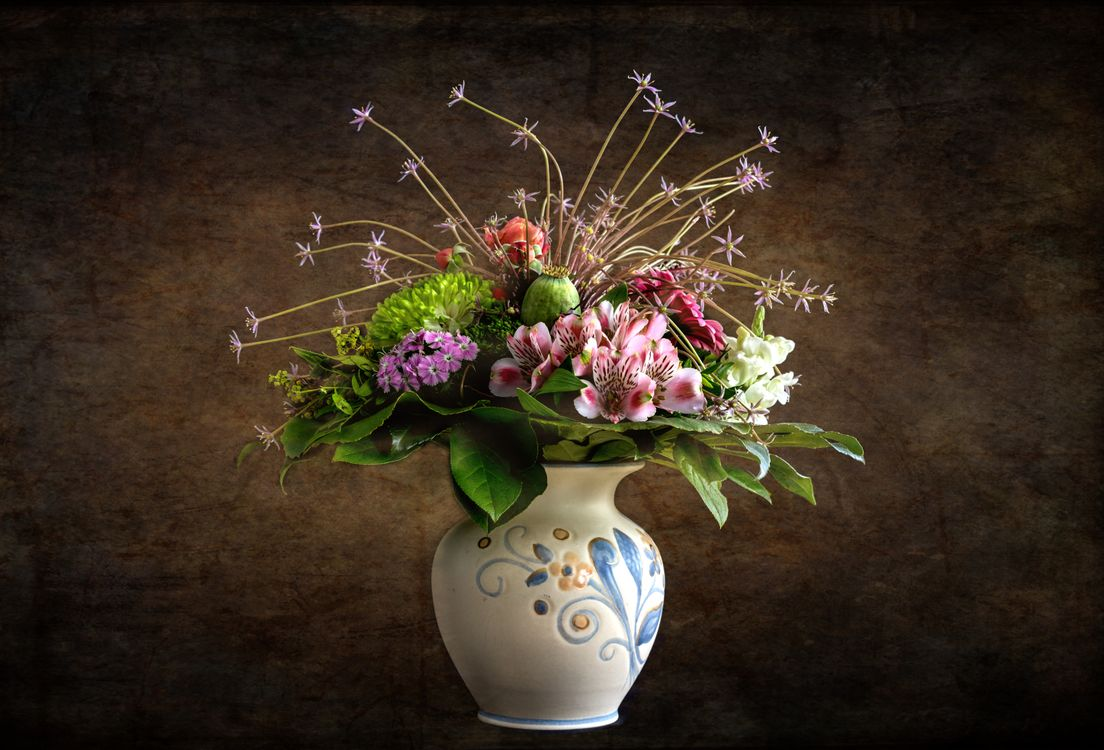 Фото бесплатно Красивый букет, букет, цветочная композиция, флора, цветы, цветок, цветочный, оригинальный, красочный, праздничный букет, цветы - скачать на рабочий стол