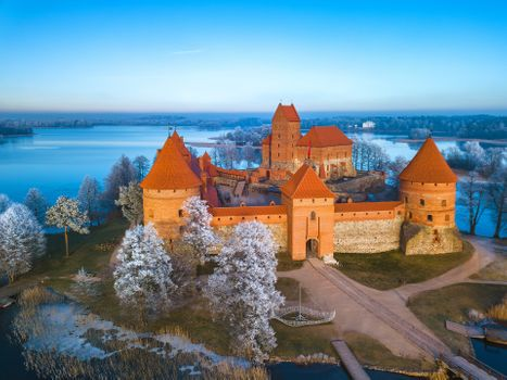 Бесплатные фото Крепость,Мариенберг,Германия,Тракайский замок зимой,пейзаж