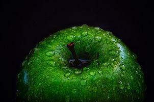Фото бесплатно яблоко, макро, капли