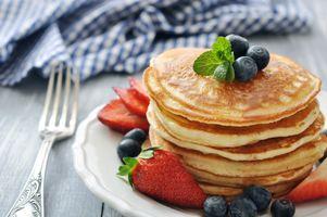 Фото бесплатно блины, ягоды, мята