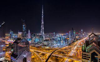 Заставки Дорога, Ночной город, из Дубая