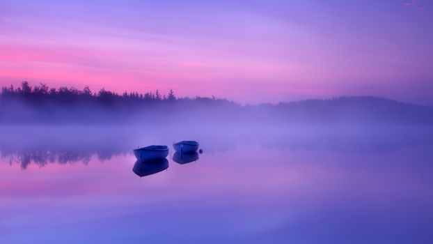Фото бесплатно туман, лодка, вода
