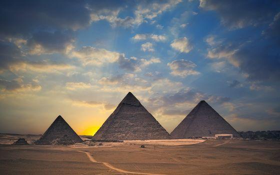Фото бесплатно небо, закат, песок