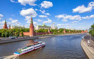 Заставки Россия, Москва-река, Московский Кремль