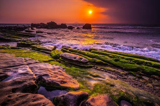 Фото бесплатно Тайвань, скалистый берег, пейзаж
