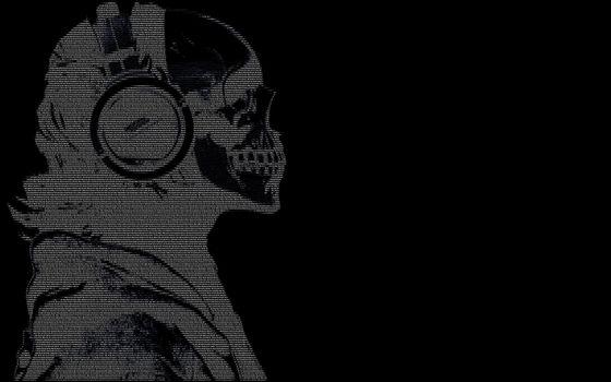 Фото бесплатно в ASCII, черный, темно