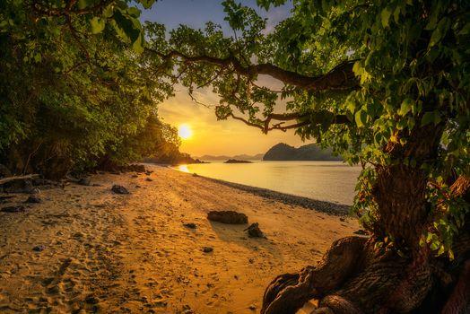 Photo free Krabi province, Thailand, sunset