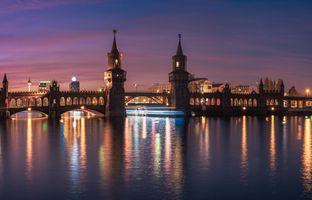 Заставки архитектура, мост Обербаум, Берлин