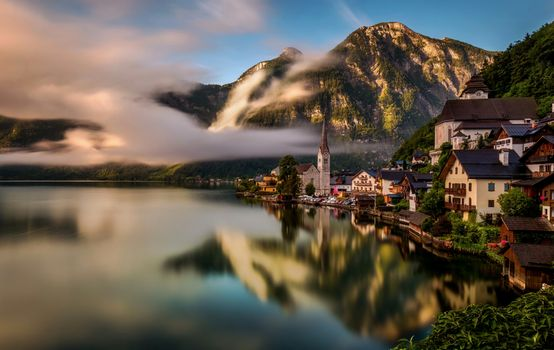 Заставки Австрия, Гальштат, деревня