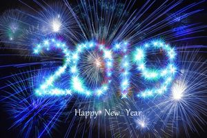 Photo free Happy New Year, fireworks, Christmas