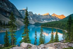 Photo free Lake Moraine, lake, Alberta