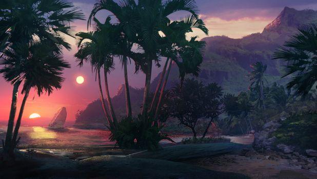 Заставки исполнитель, произведение, пальмы