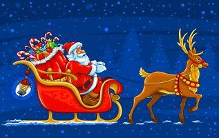 Фото бесплатно новый год, новогодняя декорация, дед мороз