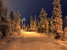 Заставки Куусамо, пейзаж, Финляндия