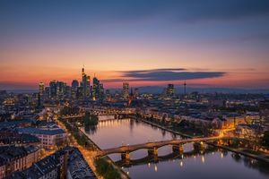Photo free Frankfurt-on-main, Germany, night