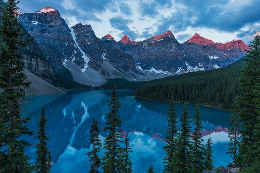 Фото бесплатно Канада, скалы, озеро морена