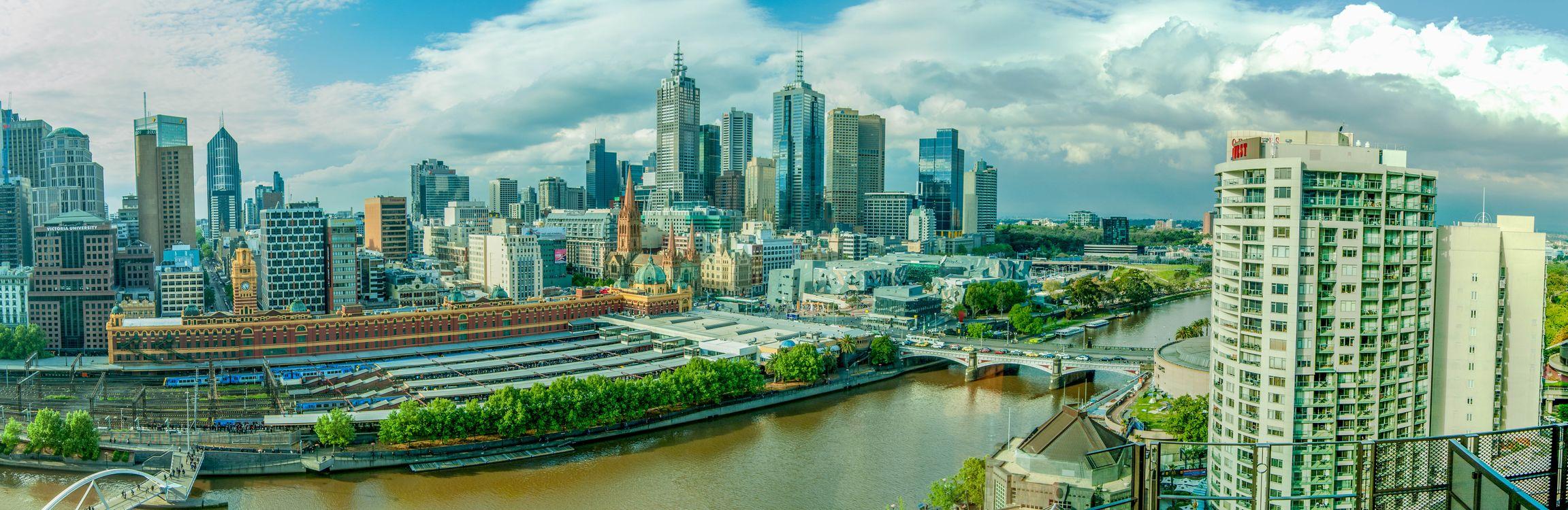 Фото бесплатно Melbourne, Australia, Мельбурн, Австралия, панорама, город