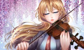 Photo free myiazono kao, violin, closed eyes