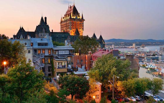 Бесплатные фото Quebec,Канада,город,деревья,здания
