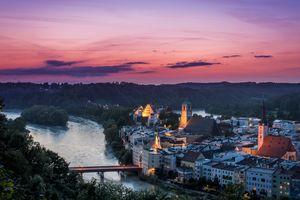 Бесплатные фото закат солнца,Вассербург,Германия,Бавария