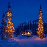 Фото бесплатно свет в окне, Рождество, дом
