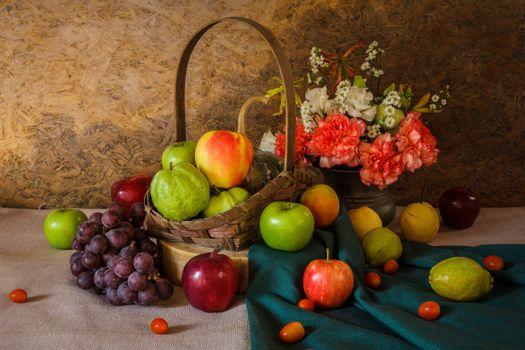 Photo free bouquet, flowers, apples