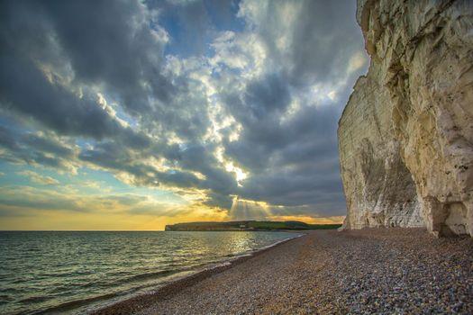 Фото бесплатно волна, рассвет, пляж