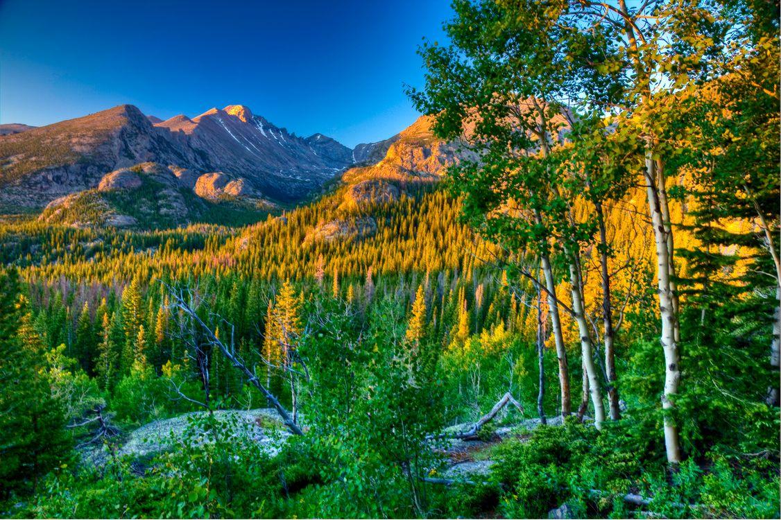 Фото бесплатно Rocky Mountain National Park, осень, горы - на рабочий стол