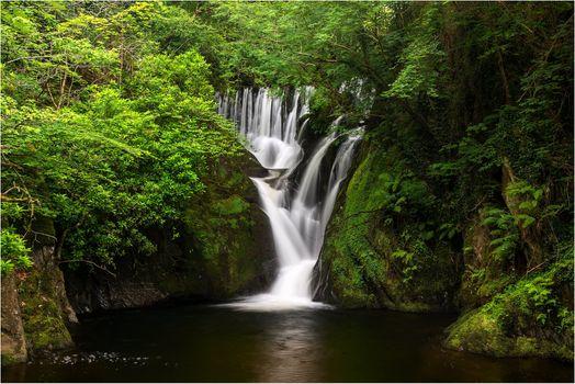 Бесплатные фото водопад,скалы,лес,деревья,водоём,природа,пейзаж