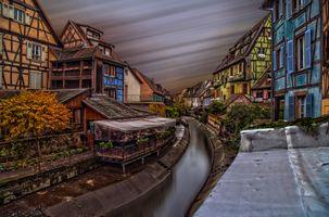 Бесплатные фото Кольмар,Франция,Colmar,France,город,канал,дома