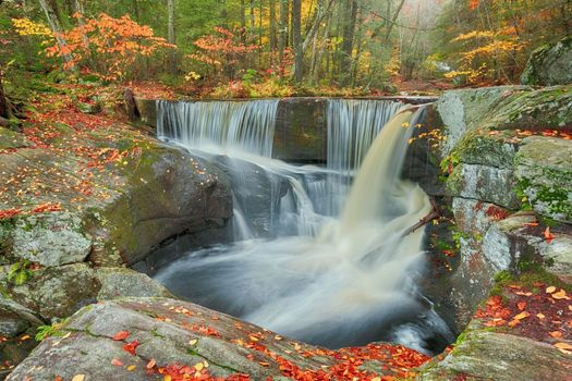 Photo free forest, autumn colors, autumn waterfall