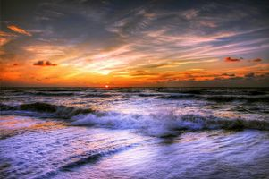 Фото бесплатно закат, море волны, берег