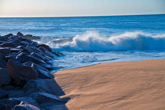 Фото бесплатно пляж, пейзаж, скалы