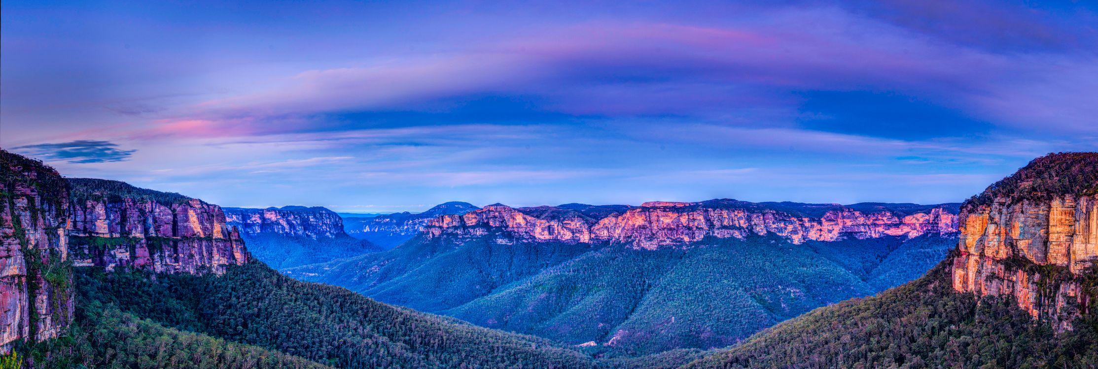 Фото бесплатно Blue Mountains National Park, Australian landscape, Австралия - на рабочий стол
