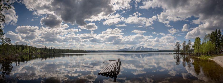Фото бесплатно lake Femund, norway, панорама