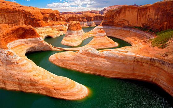 Фото бесплатно каньон, утес, облака