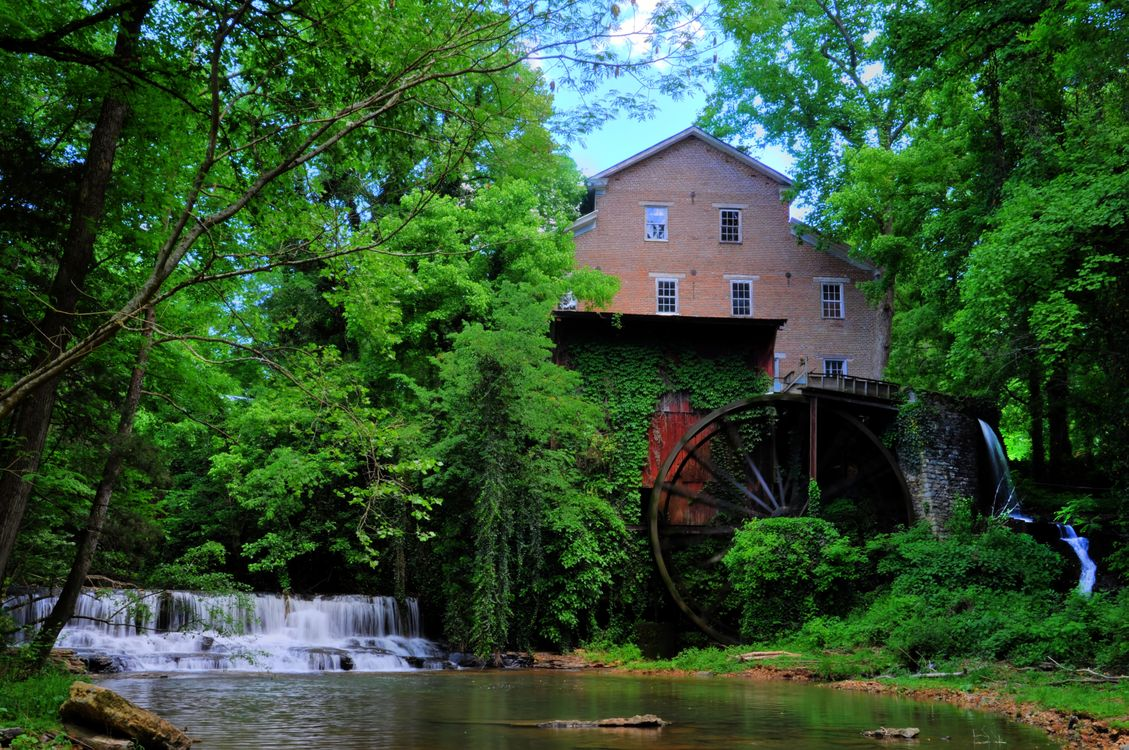 Фото бесплатно Falls Mill on Factory Creek, Belvidere, Tennessee - на рабочий стол
