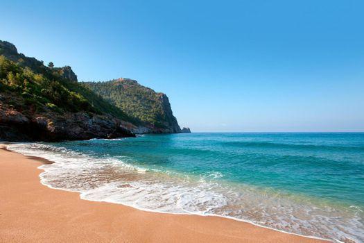 Бесплатные фото alanya,deniz,beach,волны,скала,берег,песок