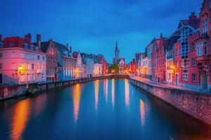 Фото бесплатно иллюминация, архитектура, Брюгге