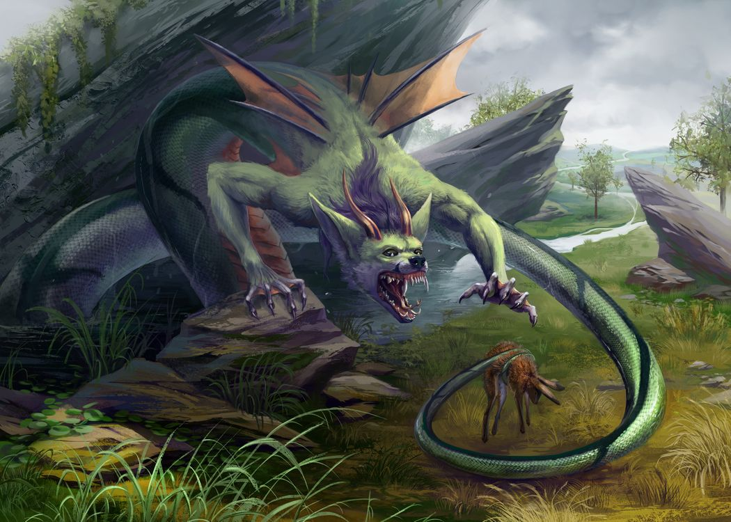 Фото бесплатно фантастика, научная фантастика, дракон - на рабочий стол