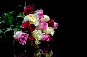 Фото бесплатно букет, роза, цветок